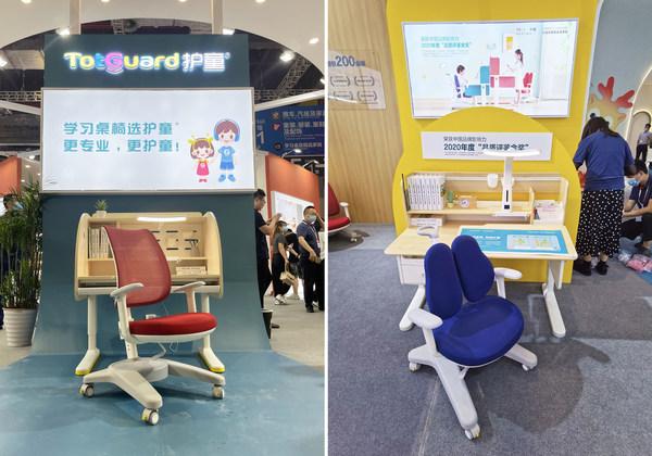 学习屋+网布椅(左),DH枫桦木学习桌(右)