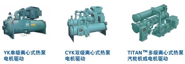 约克工业级离心式热泵产品系列