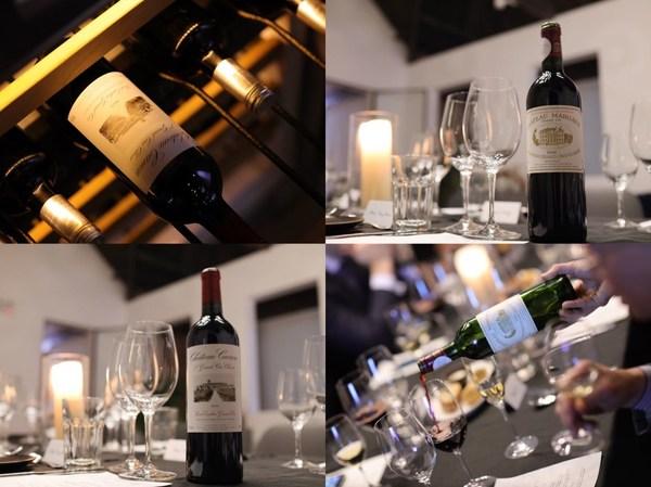 出席嘉宾共同品鉴了来自玛歌酒庄(Château Margaux)与嘉隆酒庄(Château Canon)两款顶级佳酿