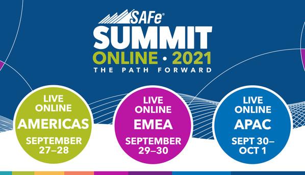 2021年全球SAFe峰会为期两天,将在美洲、欧洲和亚洲三个时区通过在线方式举行。