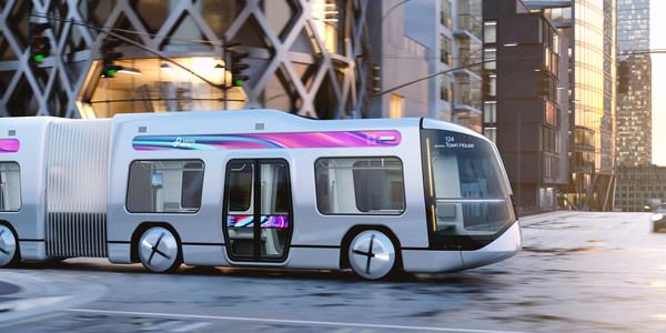 为应对城市拥挤的交通状况而设计的灵活客车:这是设计团队致力打造的一款自动驾驶超能客车,由来自德国柏林的 büro+staubach 公司设计,项目客户为来自中国的北京宜有可工业设计咨询有限公司。
