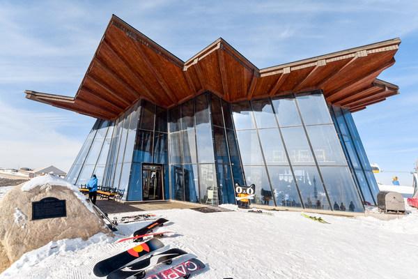 云顶滑雪场山顶天猫猫仔