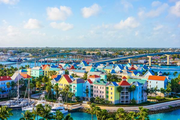 巴哈马首府拿骚海滨风光