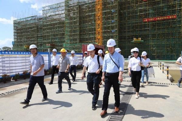 参观联东U谷顺德项目施工现场