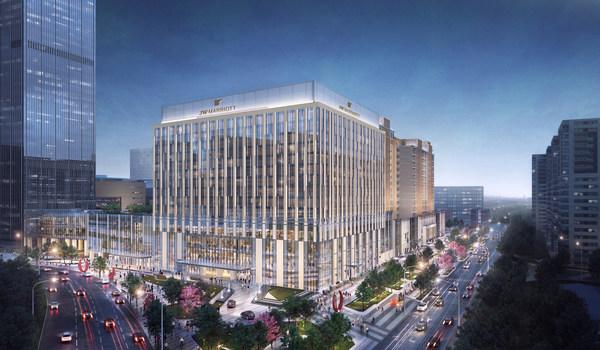 JW万豪北京东直门酒店外观设计图