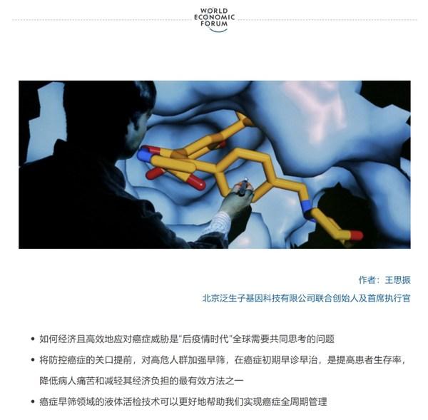 王思振在世界经济论坛平台发表署名文章