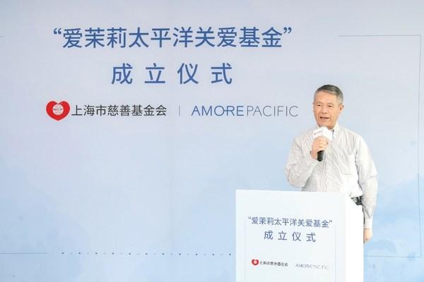 上海市慈善基金会副理事长施南昌表示对未来的合作充满信心
