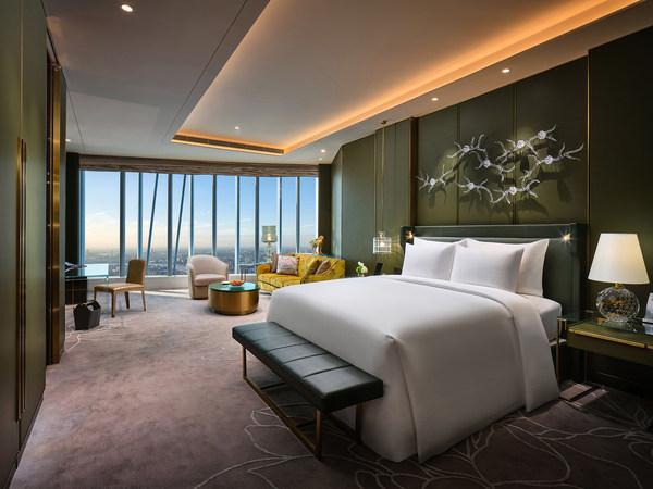 凌空客房和祥云客房 卧室区域- 新中式风格