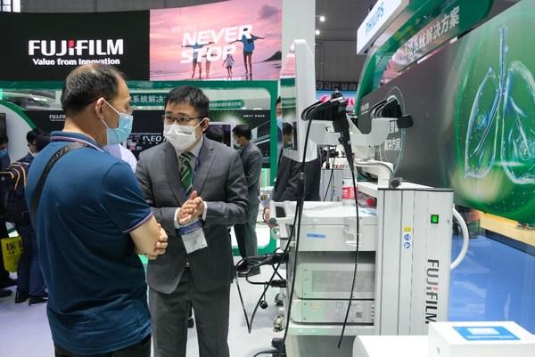 富士胶片在CMEF 2021上介绍了旗下呼吸系统解决方案