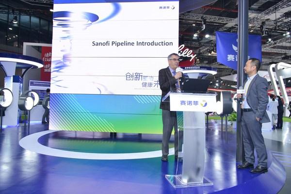 赛诺菲中国研发中心负责人Denis Bonnet介绍赛诺菲研发管线