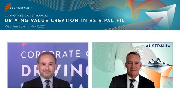 易峯亚洲区首席执行官高国登(Gordon Crosbie-Walsh)(左)及易峯澳大利亚首席执行官Mitchell Hopwood(右)。