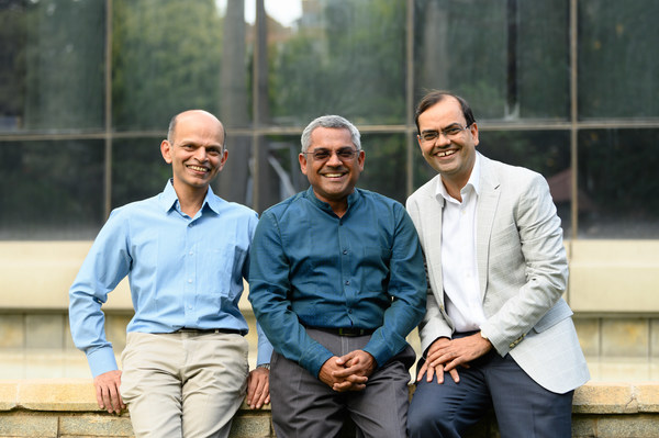 L to R: Shripati Acharya, Sanjay Swamy, Amit Somani