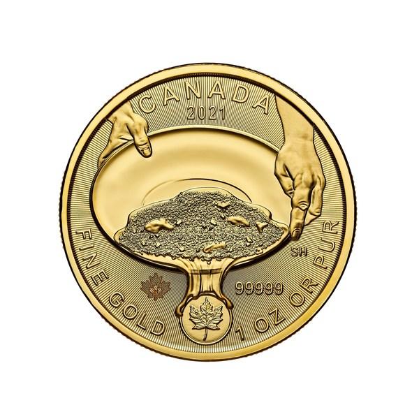 加拿大皇家铸币厂Klondike(克朗代克)淘金热125周年纯金纪念币