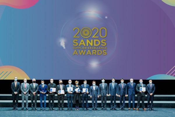 一众表现突出的供应商在威尼斯人剧场举行的2020金沙卓越供应商颁奖礼上获嘉许。