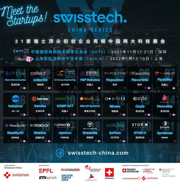 21家瑞士顶尖初创企业亮相中国两大科技展会